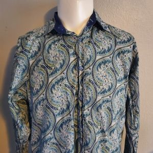 Ted Baker Paisley L/S French Cuff Size 3 Excellent